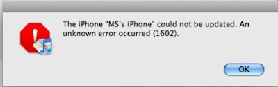 Error 1602 1601 iTunes iPod Touch iPhone
