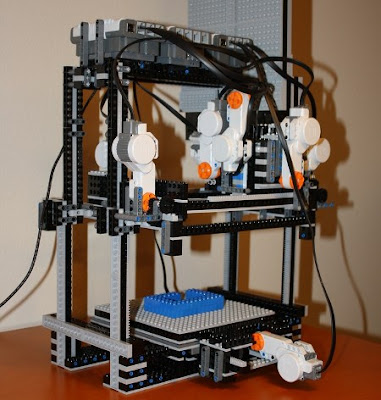 MakerLegoBot - Lego Mindstorms NXT 3D Lego Printer