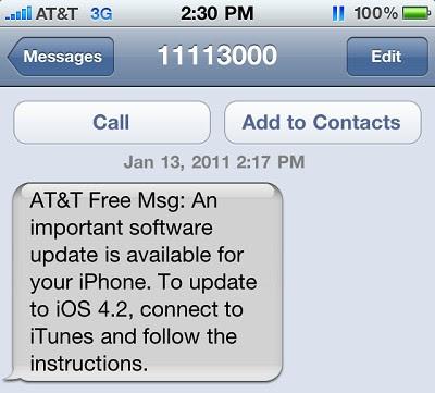 AT&T šalje poruku korisnicima iPhone o Software Update - to je varka