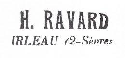 Tampon de l'épicerie de Henry et Jeanne RAVARD à Irleau