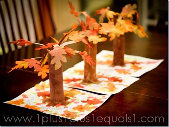Осенний поделки на картоне