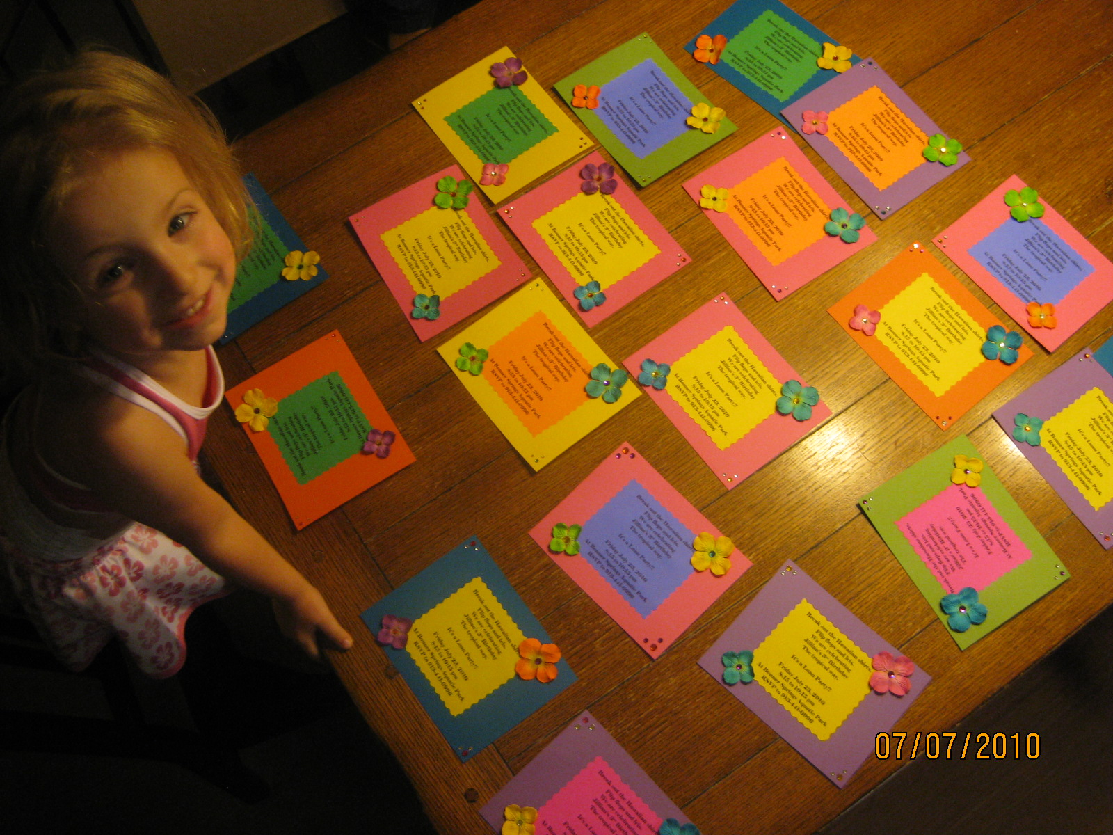 Luau Homemade Invitations Decorticosis