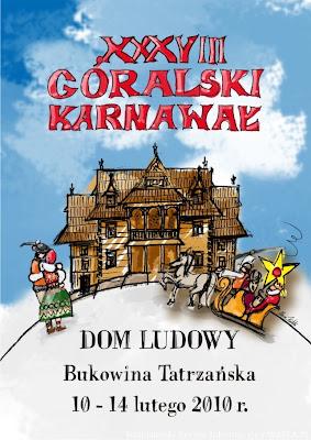XXXVIII Karnawał Góralski 2010 Bukowina Tatrzańska plakat