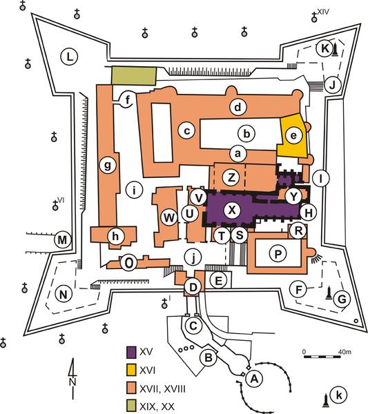Jasna Góra Częstochowa plan mapa