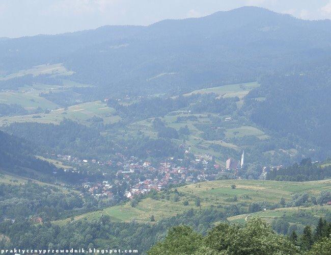 Widok z Palenicy na Krościenko nad Dunajcem