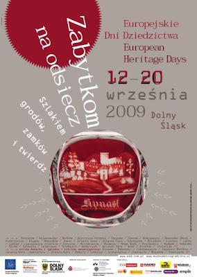 Europejskie Dni Dziedzictwa 2009 Dolny Śląsk dolnośląskie plakat
