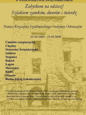 Europejskie Dni Dziedzictwa 2009 Świętokrzyskie plakat 2009