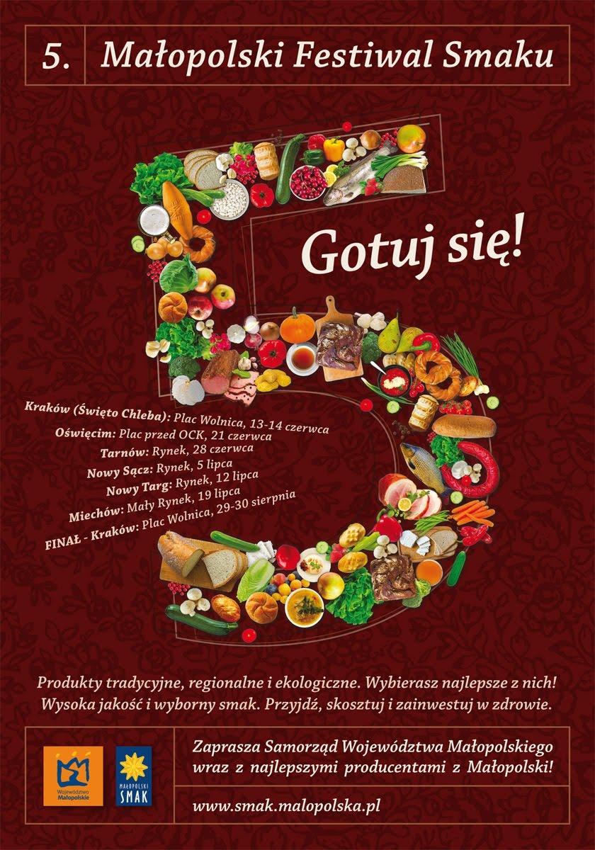 V Małopolski Festiwal Smaku plakat