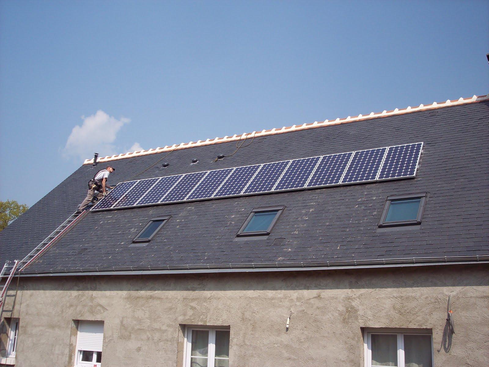 notre maison en autoconstruction panneau solaire photovoltaique suite et fin. Black Bedroom Furniture Sets. Home Design Ideas