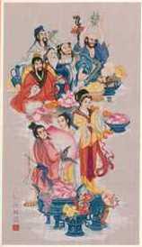 схема вышивки крестом восемь бессмертных