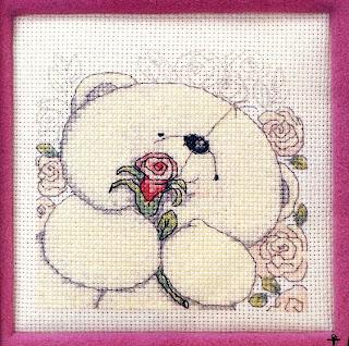 схема вышивки крестом очаровательный медвежонок