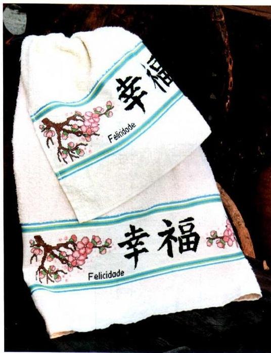 схема вышивки крестом сакура и