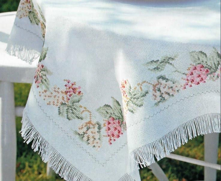 схемы для вышивки скатертей