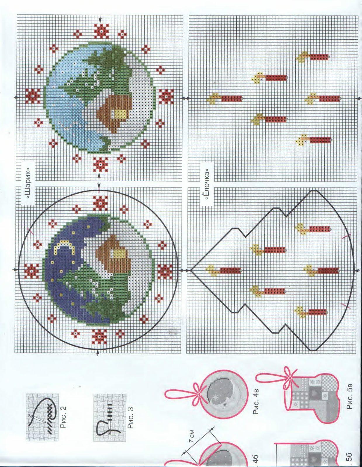 вышивка бисером схема ёлочной игрушки
