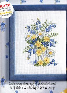 схема вышивки крестом весенние цветы