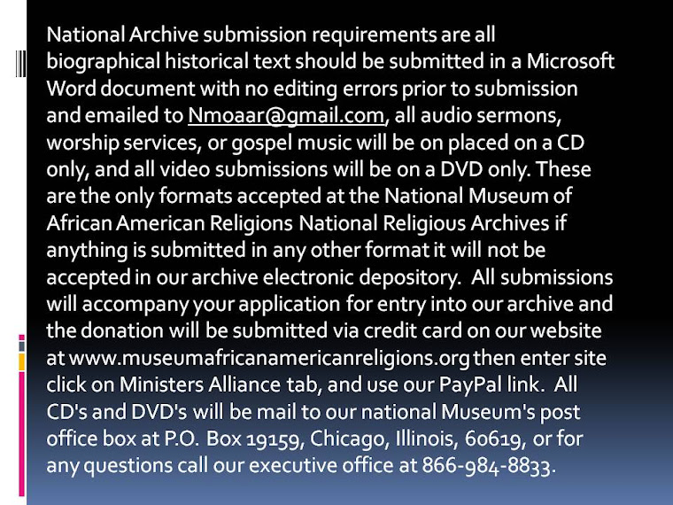 HOW TO SUBMIT YOUR CHURCHES HISTORY TO THE NATIONAL ARCHIVES