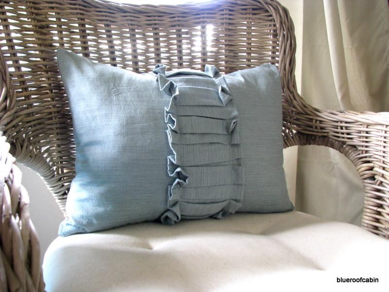 Blue Roof Cabin Ruffled Pillow Simple Ruffle Decorative Pillows