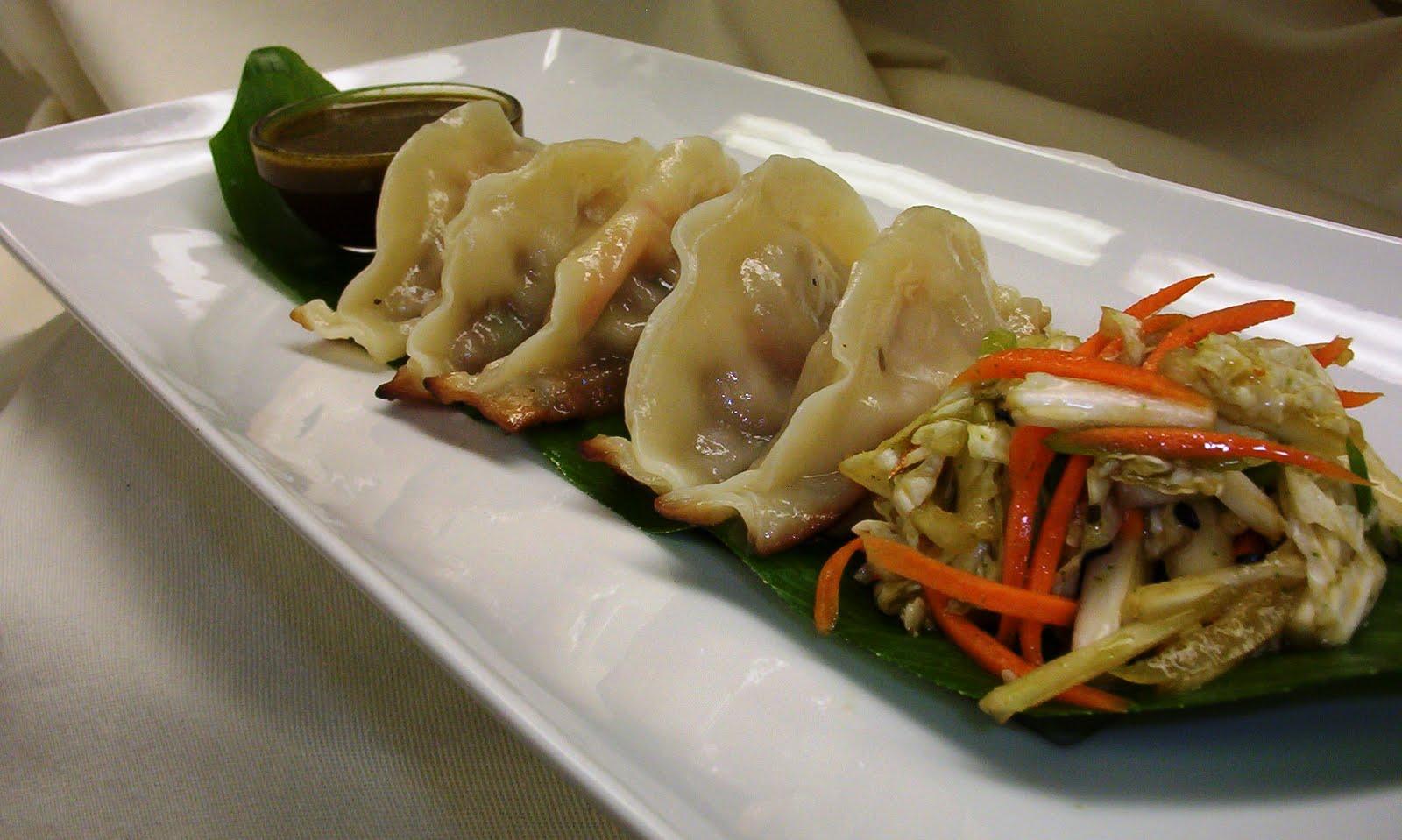 Pork And Shrimp Pot Stickers Recipe — Dishmaps