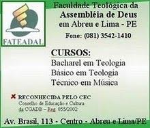 ESTUDE MÚSICA E TEOLOGIA CONOSCO NA FATEADAL.