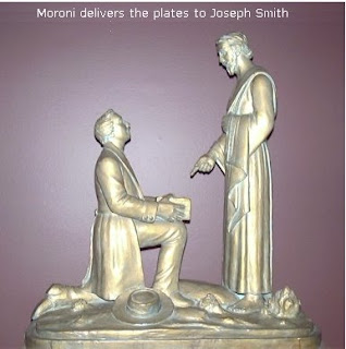 moroni delivers(delivering) the golden plates to Joseph Smith silver art award image
