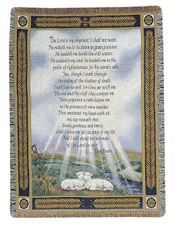 Beautiful two white lambs photo frame with Psalm 23 verse and god blessings Christian religious picture