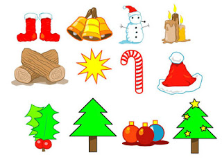 Christmas Christian cliparts arranged in beautiful way free religious Christian photo download