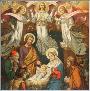 Baby Jesus in the Manger the nativity painting image free Christian religious downloads