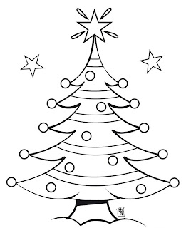 Coloring Page Of Brightest Glowing Christmas Star On Christmas Tree  Christian Religious Sketches Free Download
