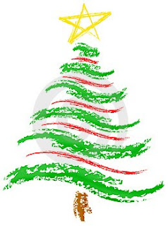 Color Drawing Art Of Christmas Tree With Green Sketch And Yellow Christmas  Star Christian Religious Hq