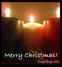 Bright and Giant candles with Merry Christmas wishes free Christmas Christian photo download