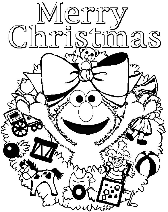 Merry Christmas Coloring Pages For Kids And Gifts Of Santa Christian Merry Coloring Pages