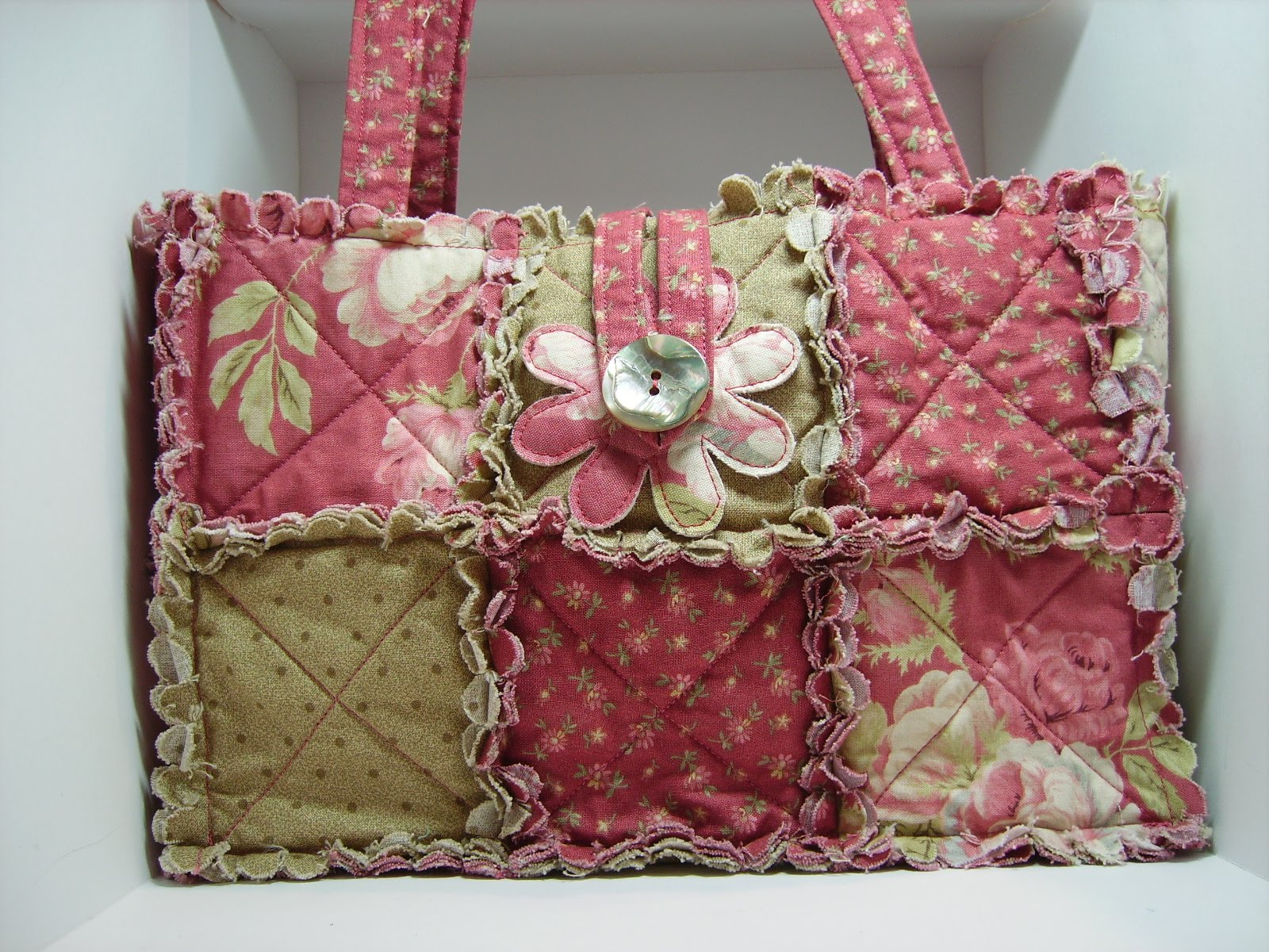 Lady Amp The Stamp Rag Quilt Purses