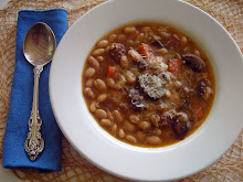 Bean &amp; Sausage Soup with Mushrooms