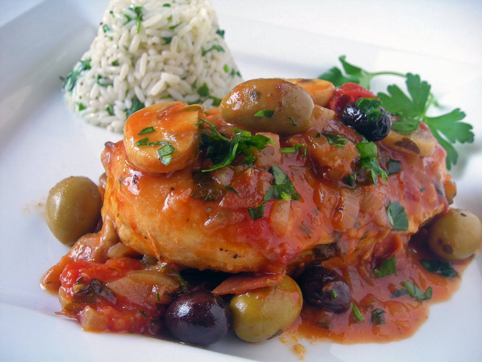 My carolina kitchen chicken marengo the famous french for French dishes
