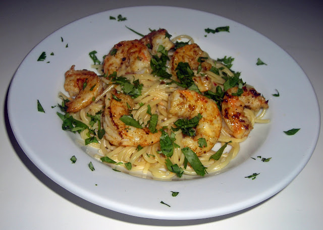 My Carolina Kitchen: Shrimp with Creamy Orange-Chipotle Sauce