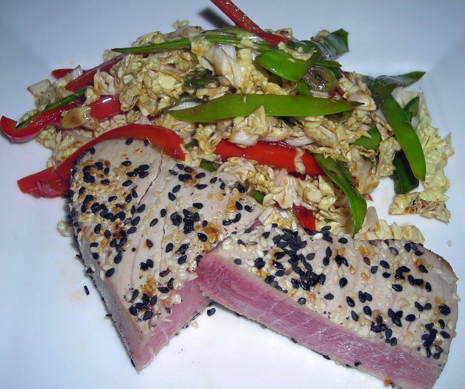 Seared Ahi Tuna With Wasabi Sauce Fresh tuna is meaty and lean