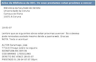 Recordatorio bibliotecas UDC