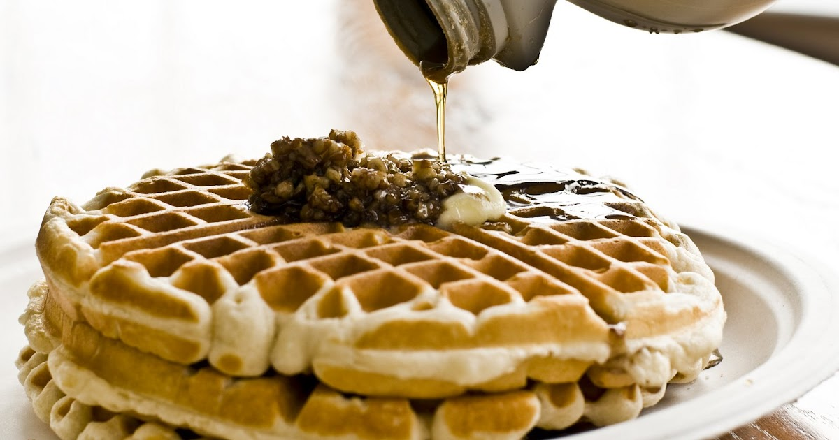 Family Recipes: The Best Waffle Recipe with Praline Sauce
