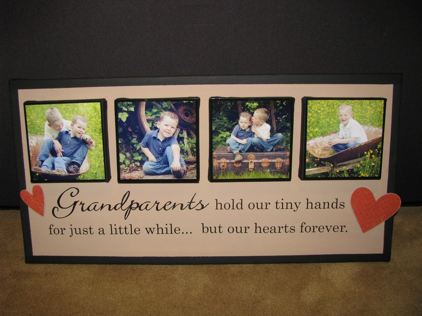 Christmas Craft Ideas For Grandparents Part - 17: 3. Canvas Photo Projects