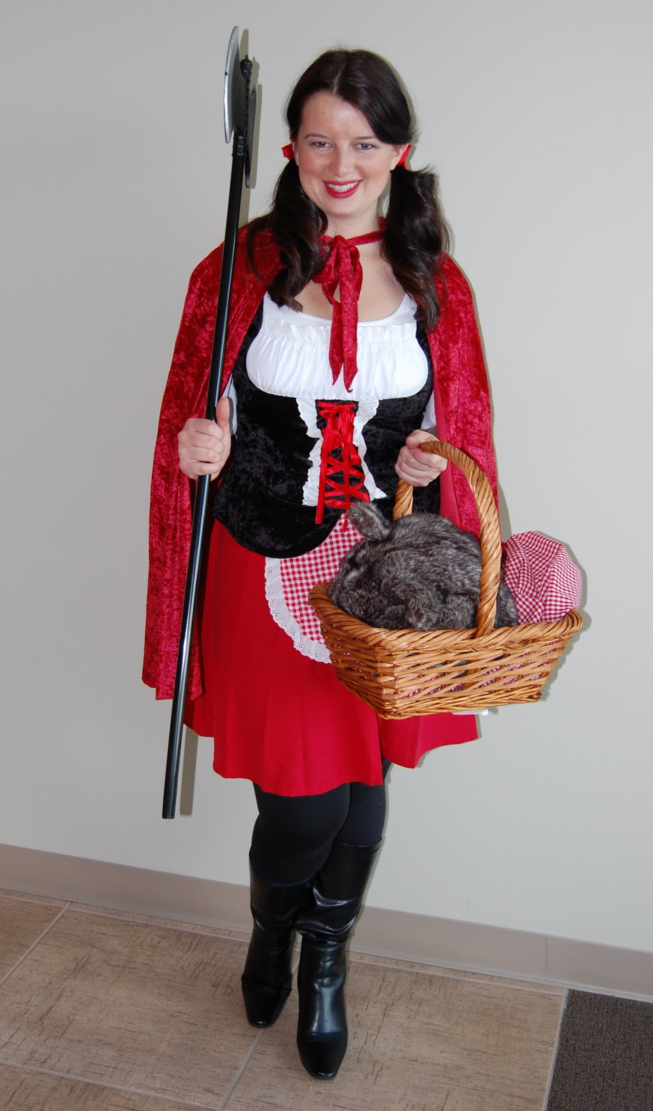 Breehalloween10 In honor of TLS, I donned a Little Red Riding Hood costume and went out on ...
