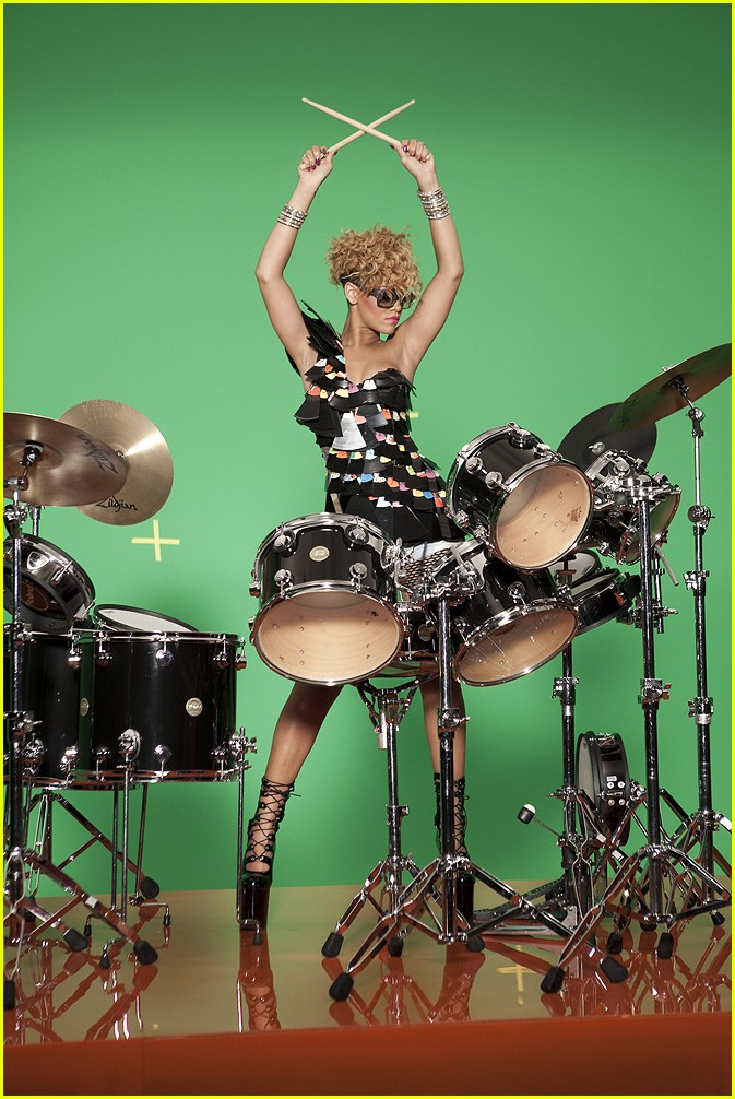rihanna rude boy album. Rihanna in the Drum scene from