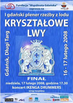 kryształow lwy plakat gdańsk