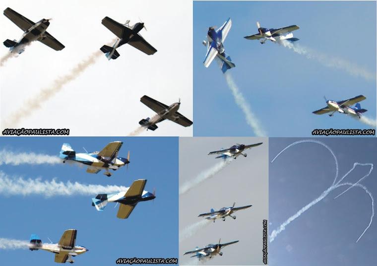 El show con los tres aviones