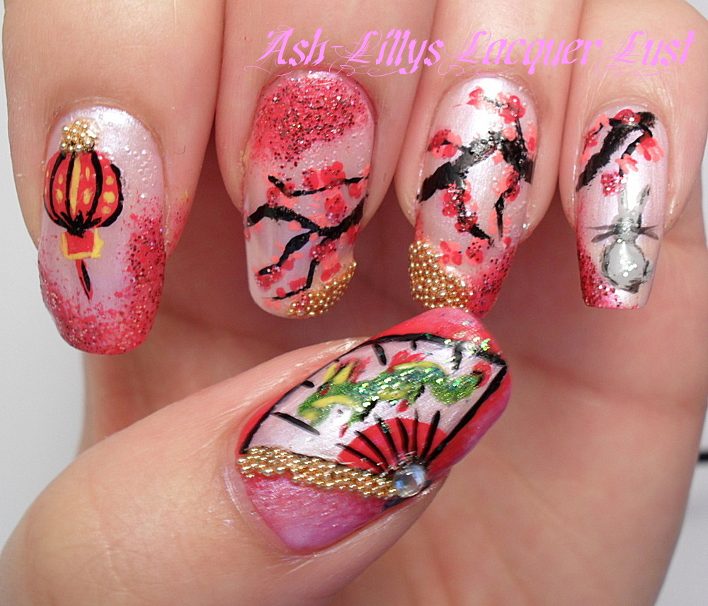 Ash-Lilly\'s Lacquer Lust: My entry for a nail art contest.