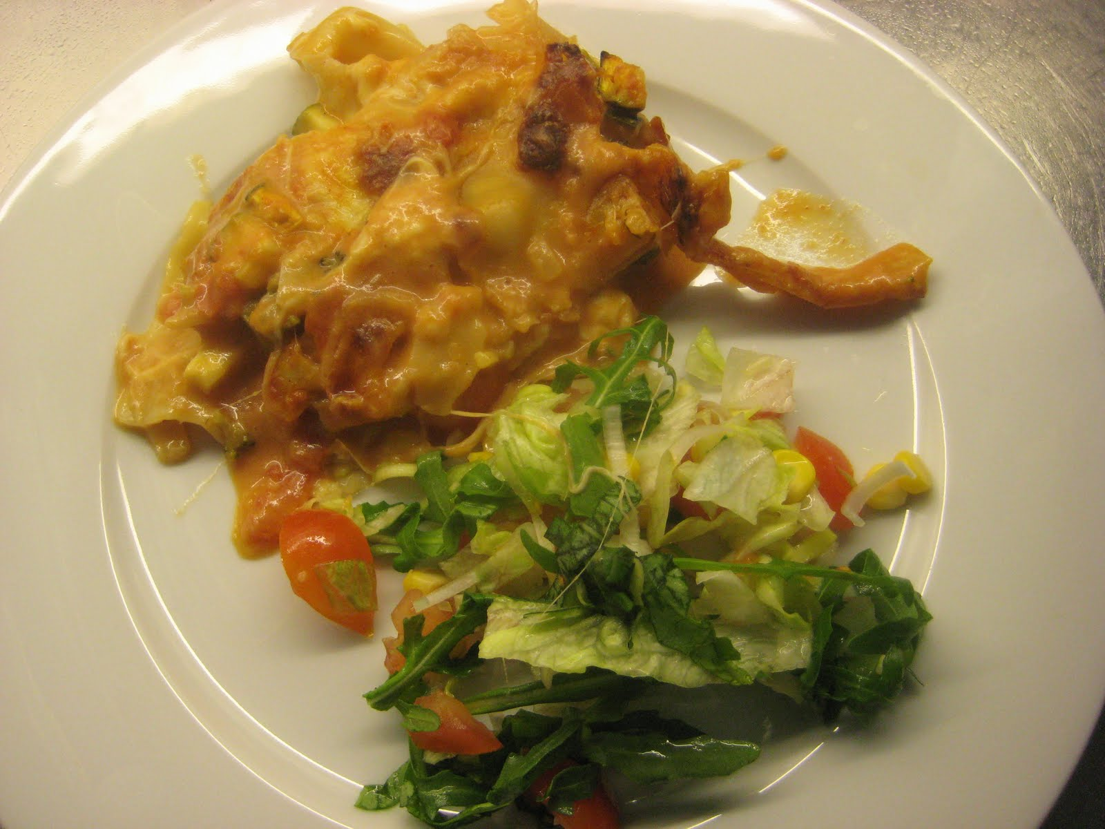vegetarisk lasagne tasteline