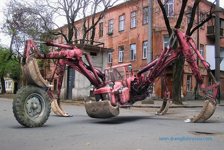Самодельный трактор в картинках