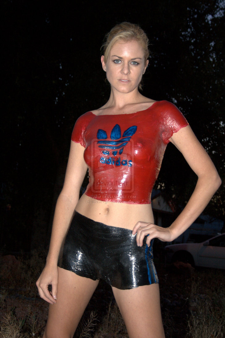 Adidas Body Painting