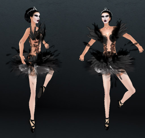black swan ballerina costume. Black Swan Ballerina Dress
