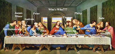 The Last Supper With Names Of Apostles Labelled | Free HD ...
