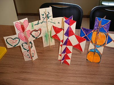 Catholic icing holy week crafts for Cross craft for kids